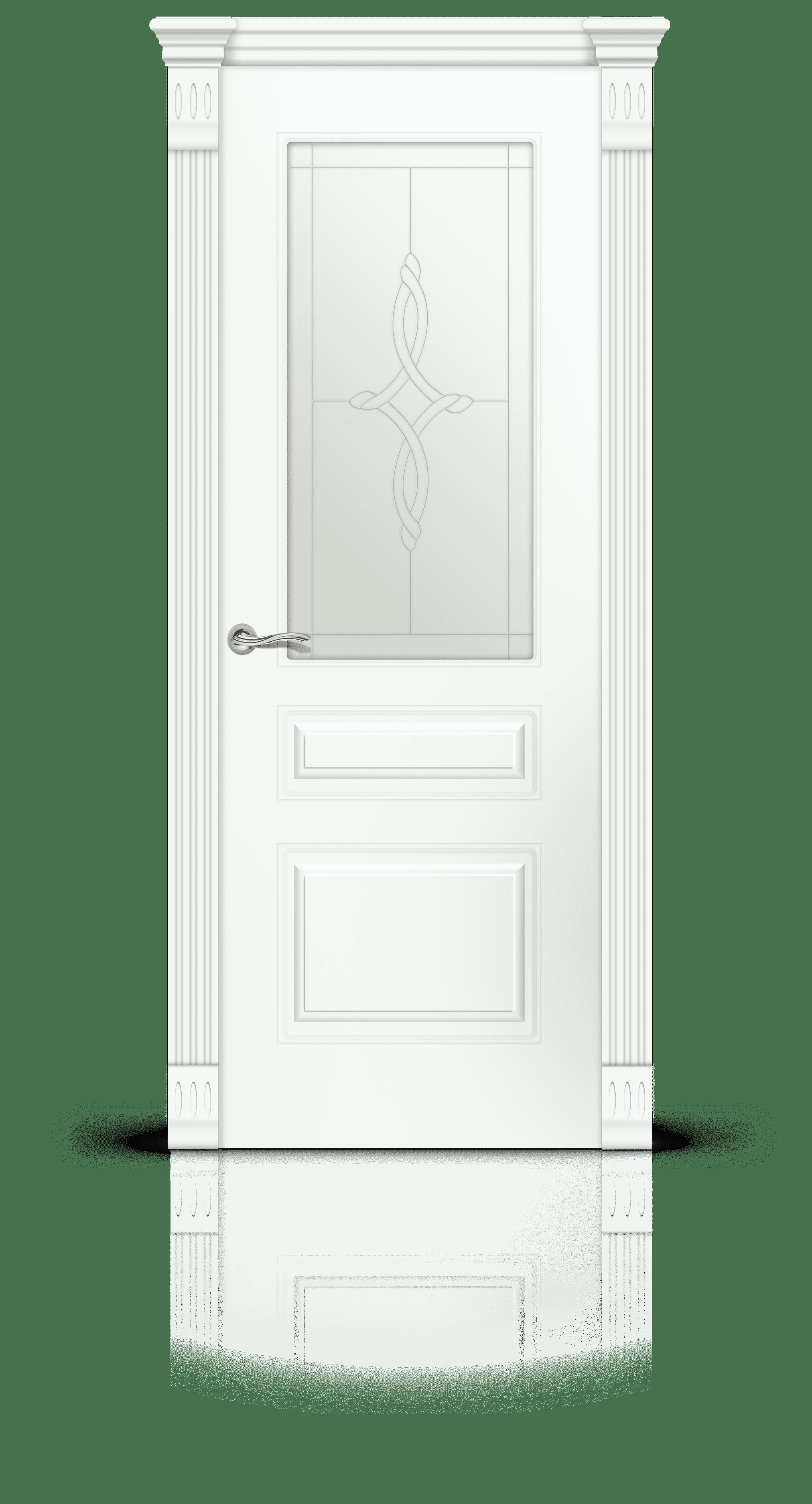 Вероник 2 эмаль белый стекло