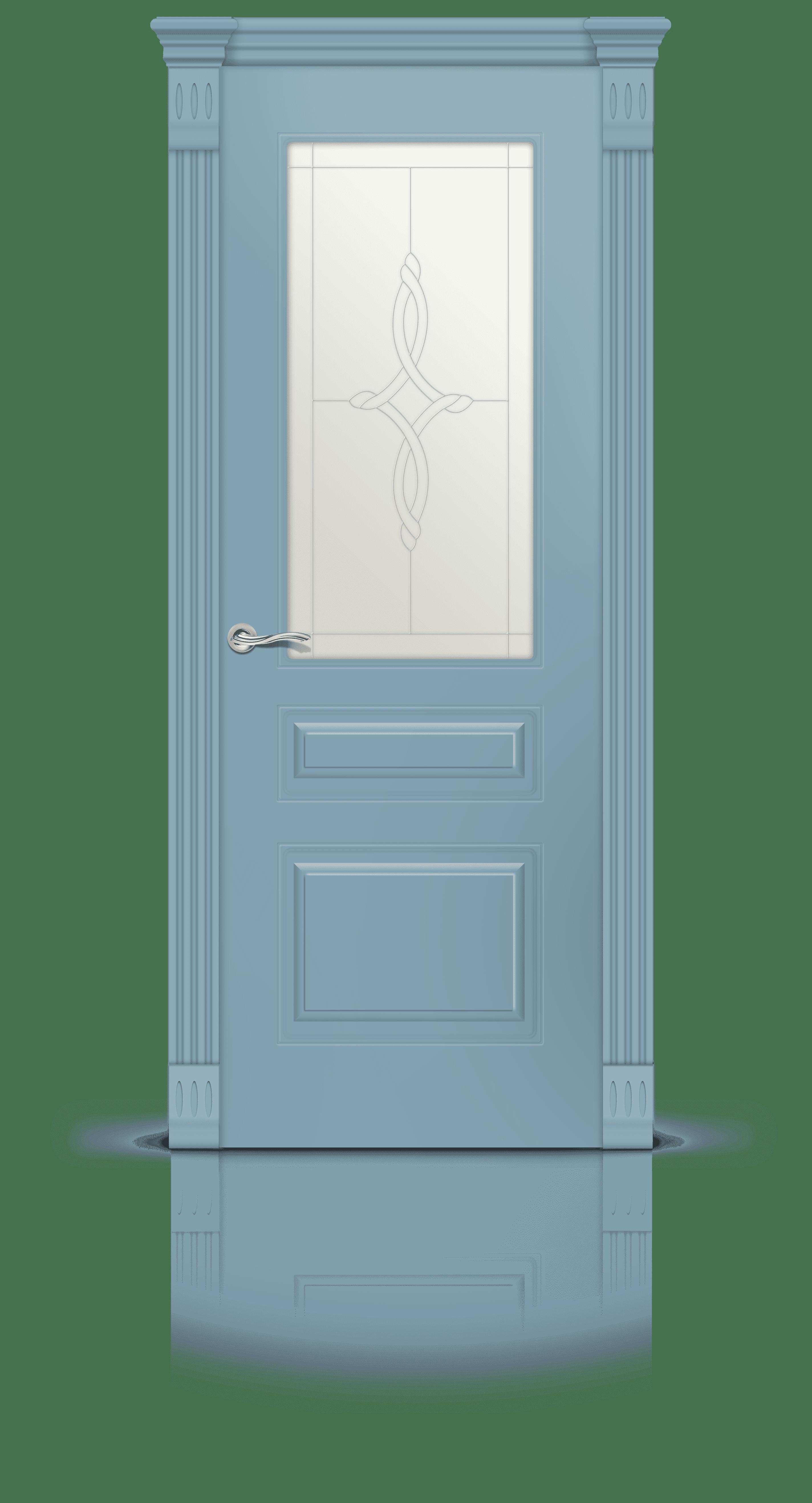 Вероник 2 эмаль голубой стекло