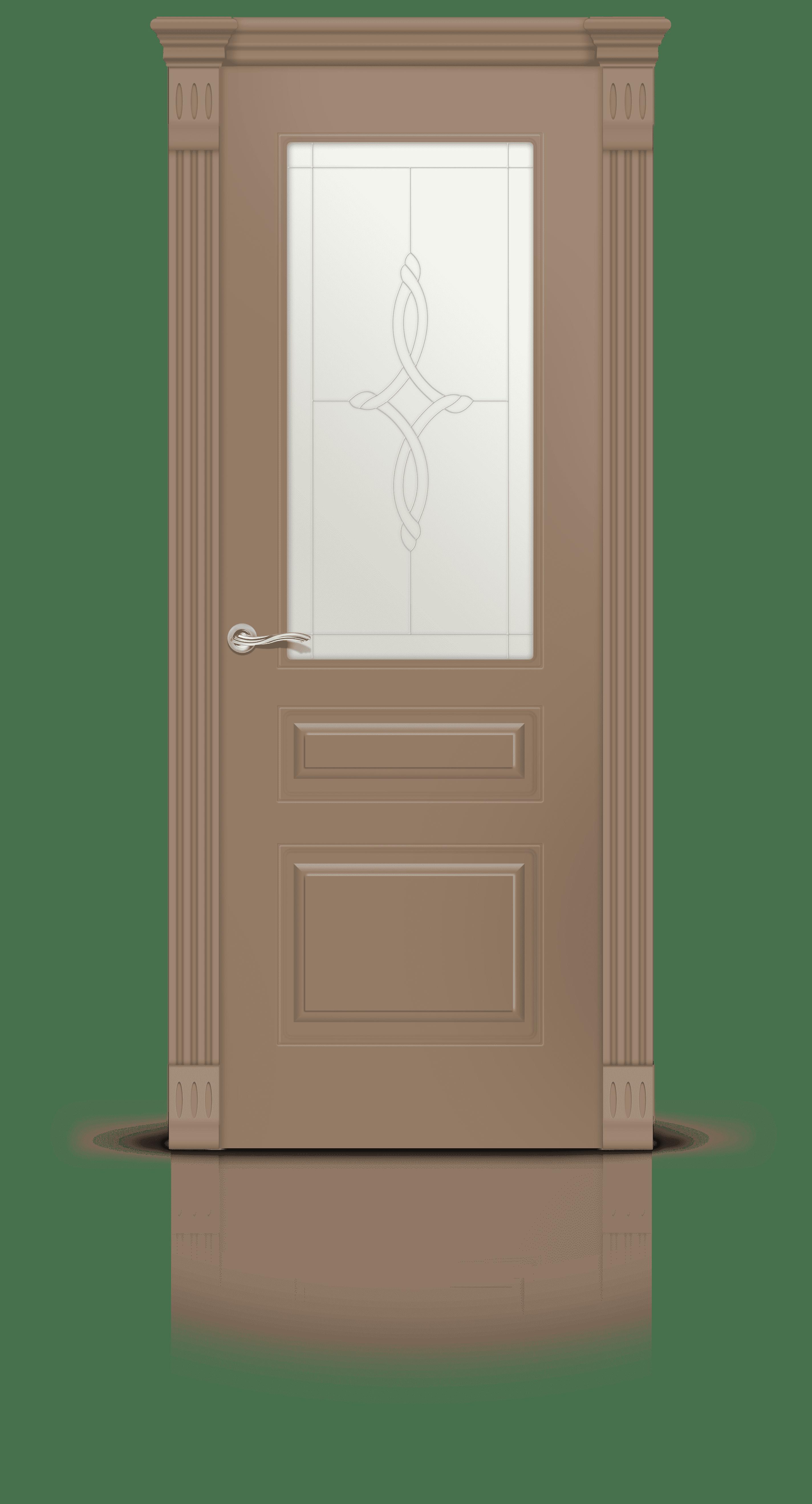 Вероник 2 эмаль светло-коричневый стекло