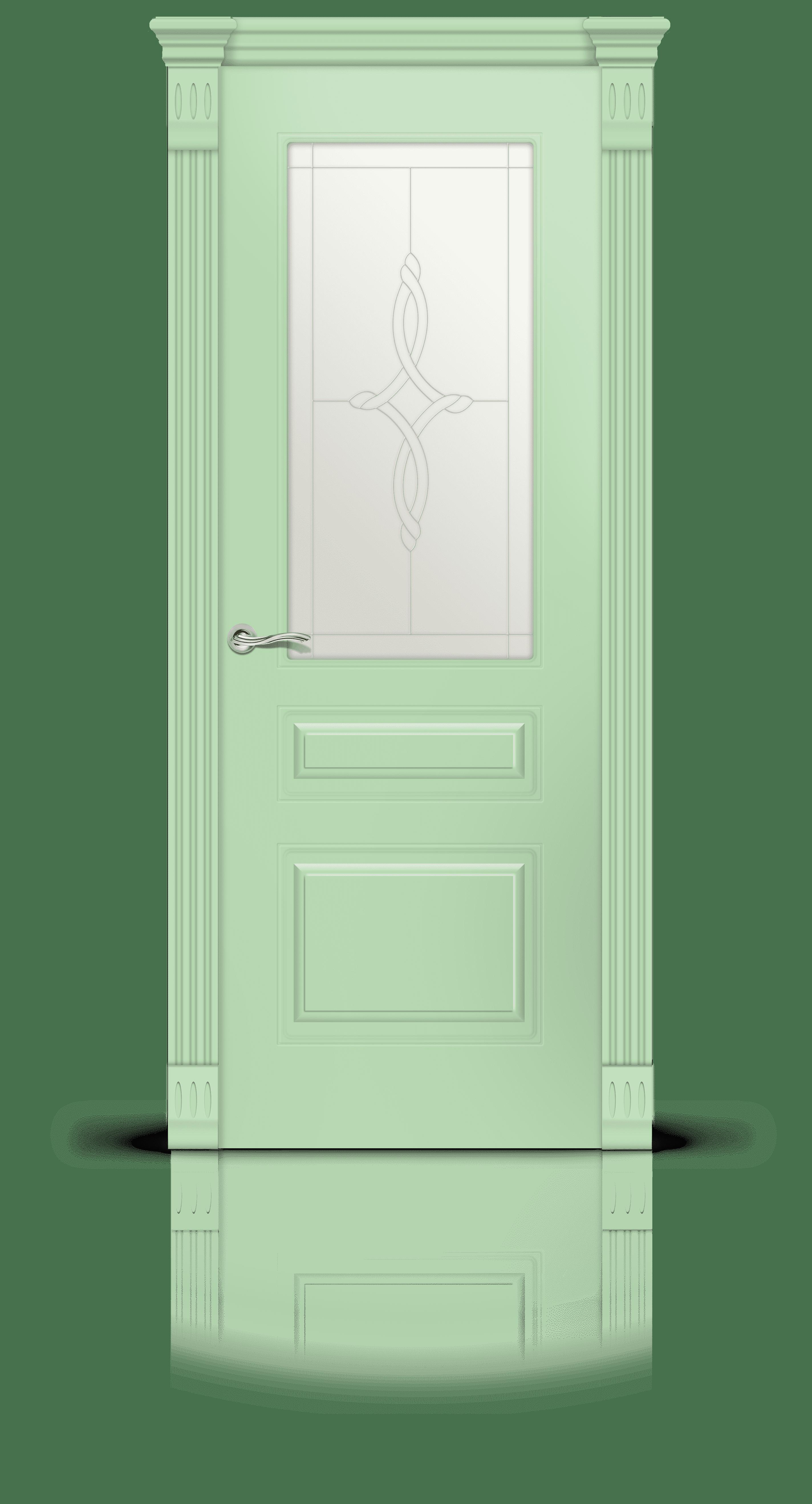 Вероник 2 эмаль фисташка стекло