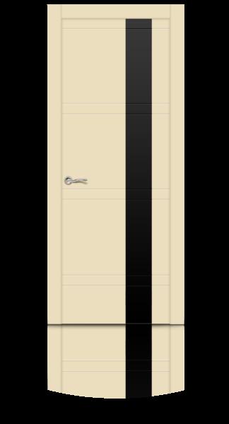 Грация эмаль RAL 1015 бежевый стекло черное