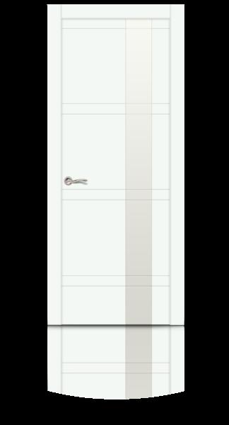 Грация эмаль RAL 9003 белый стекло белое