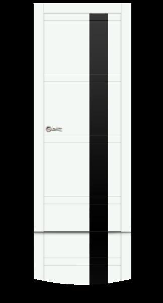 Грация эмаль RAL 9003 белый стекло черное