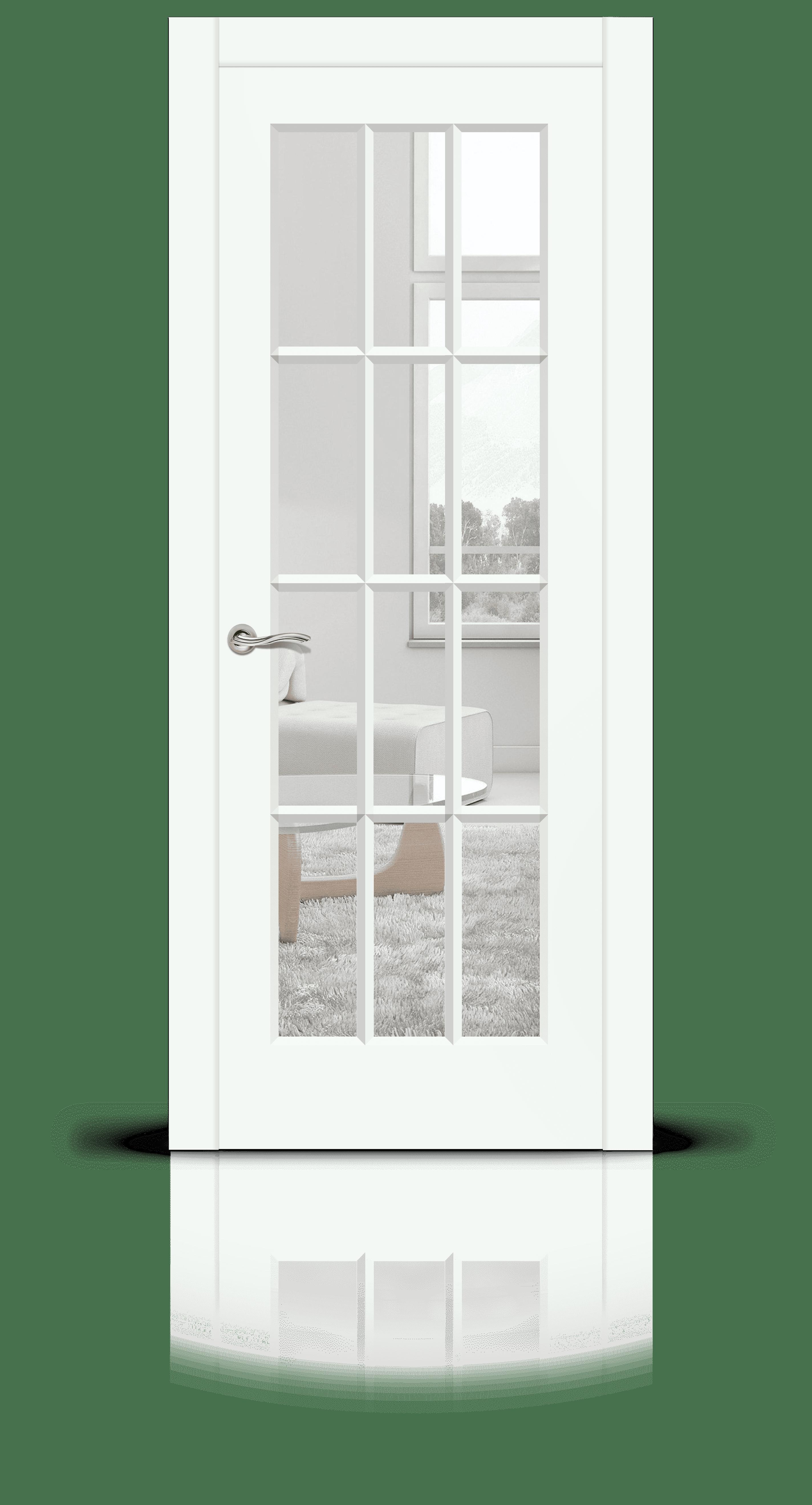 Олимп эмаль RAL 9003 белый стекло прозрачное