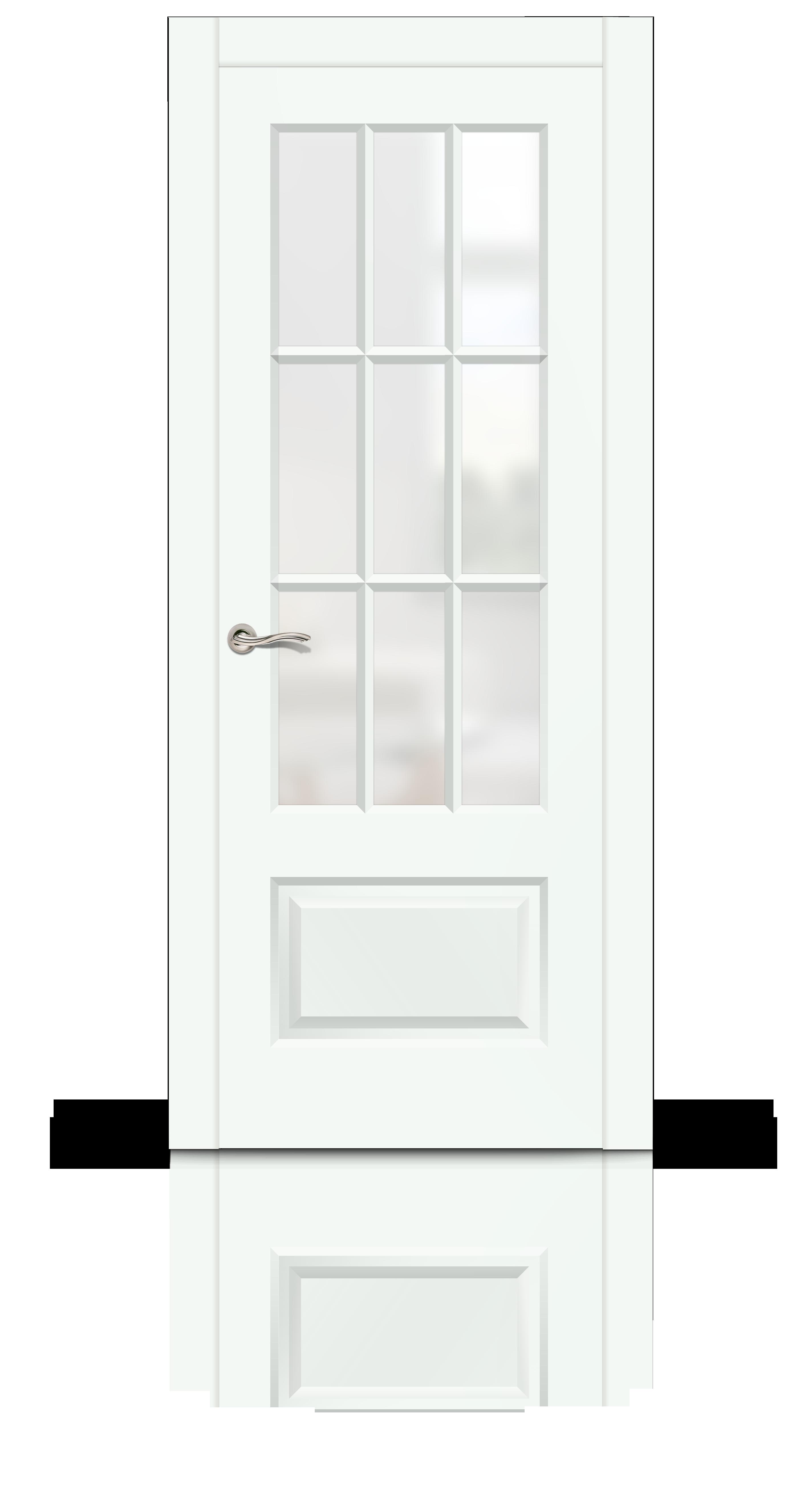Олимп 2 эмаль RAL 9003 белый стекло матовое