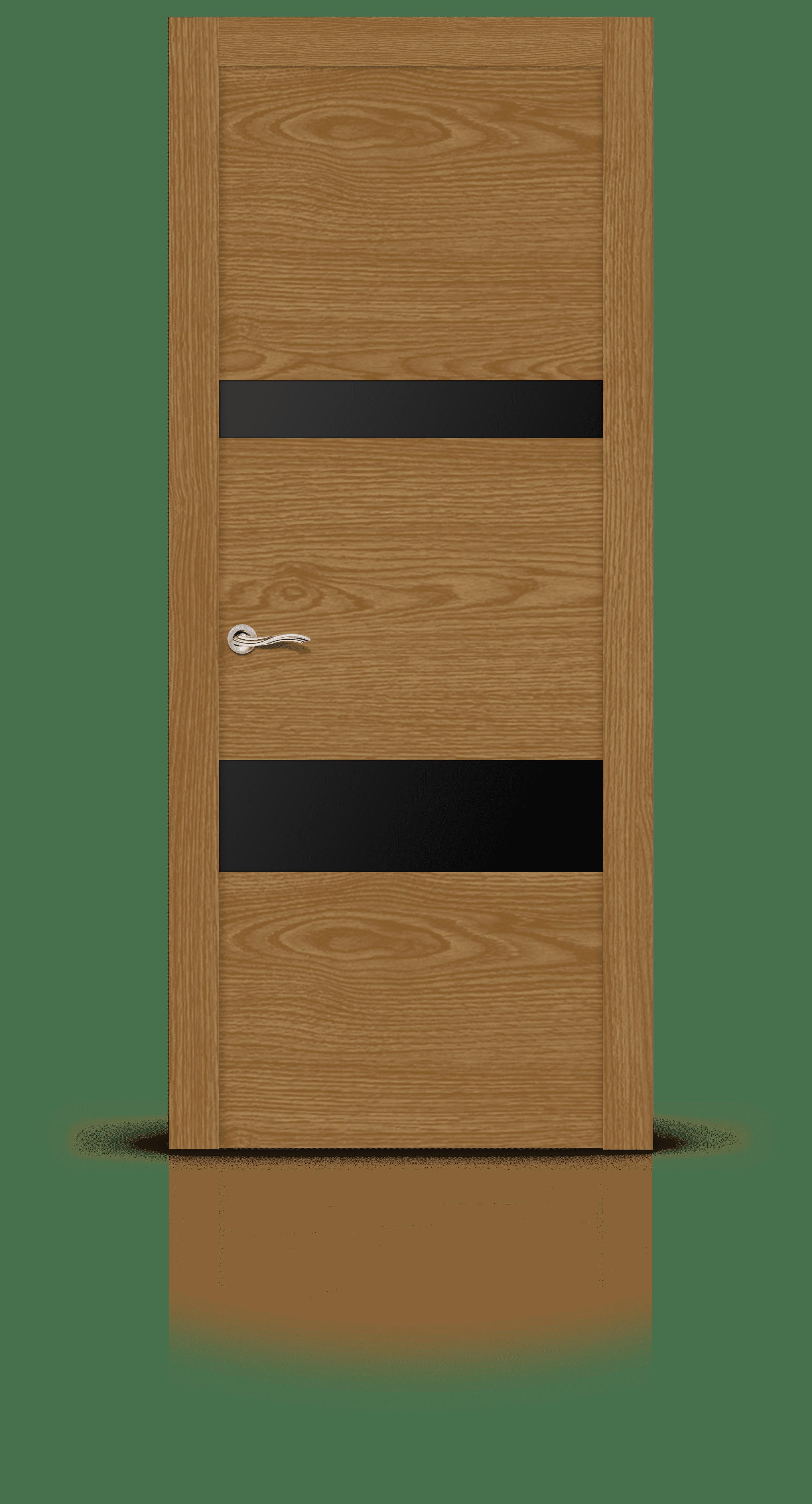 Экстра-2 дуб медовый стекло черное