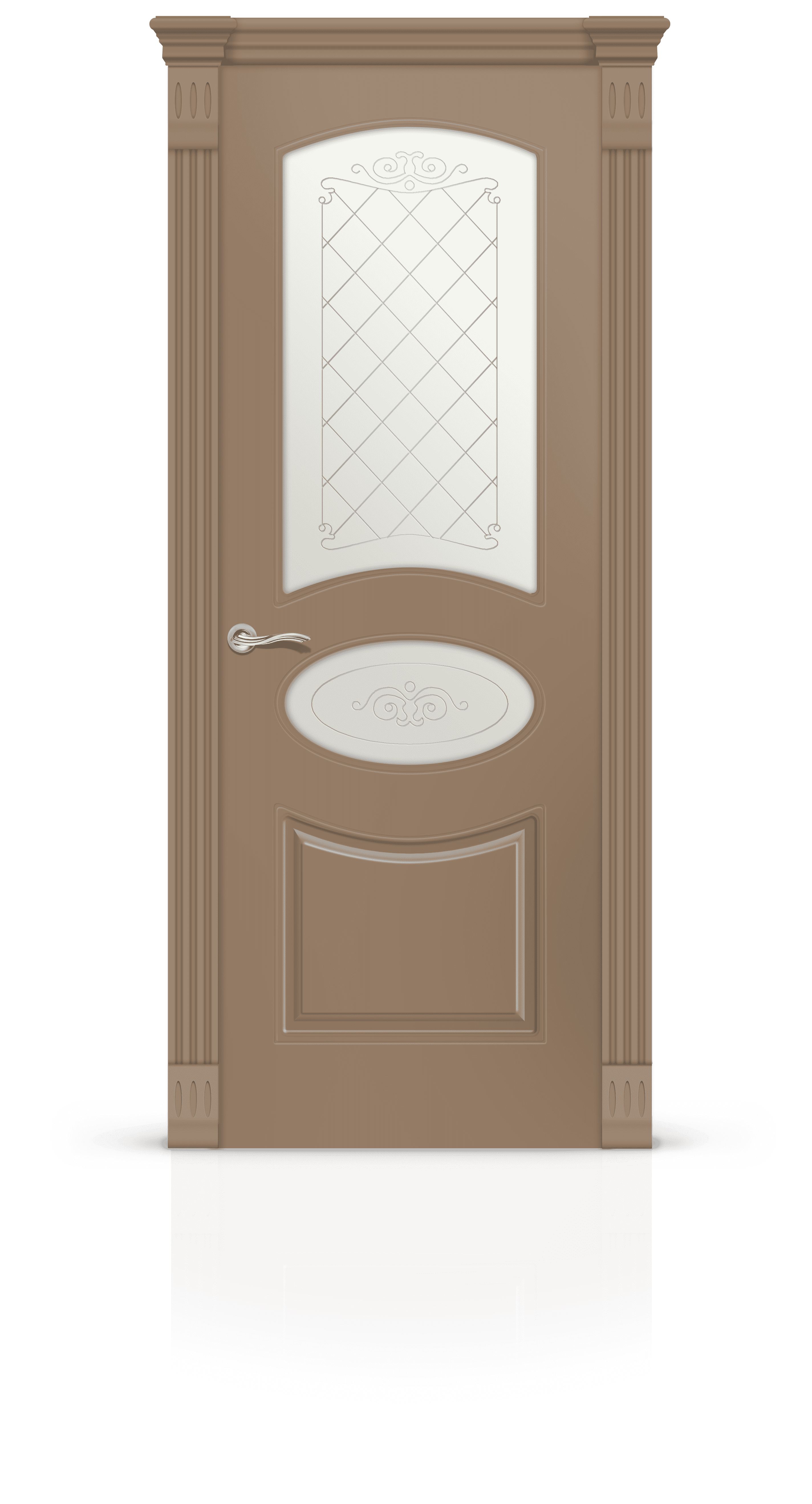 Эстель эмаль светло-коричневый стекло