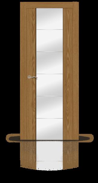 Виконт дуб медовый стекло зеркало