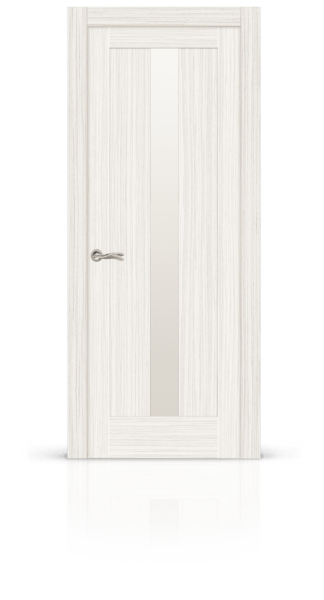 Маэстрио экошпон беленый дуб стекло белое