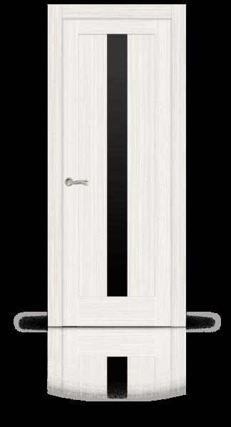 Маэстрио экошпон беленый дуб стекло черное