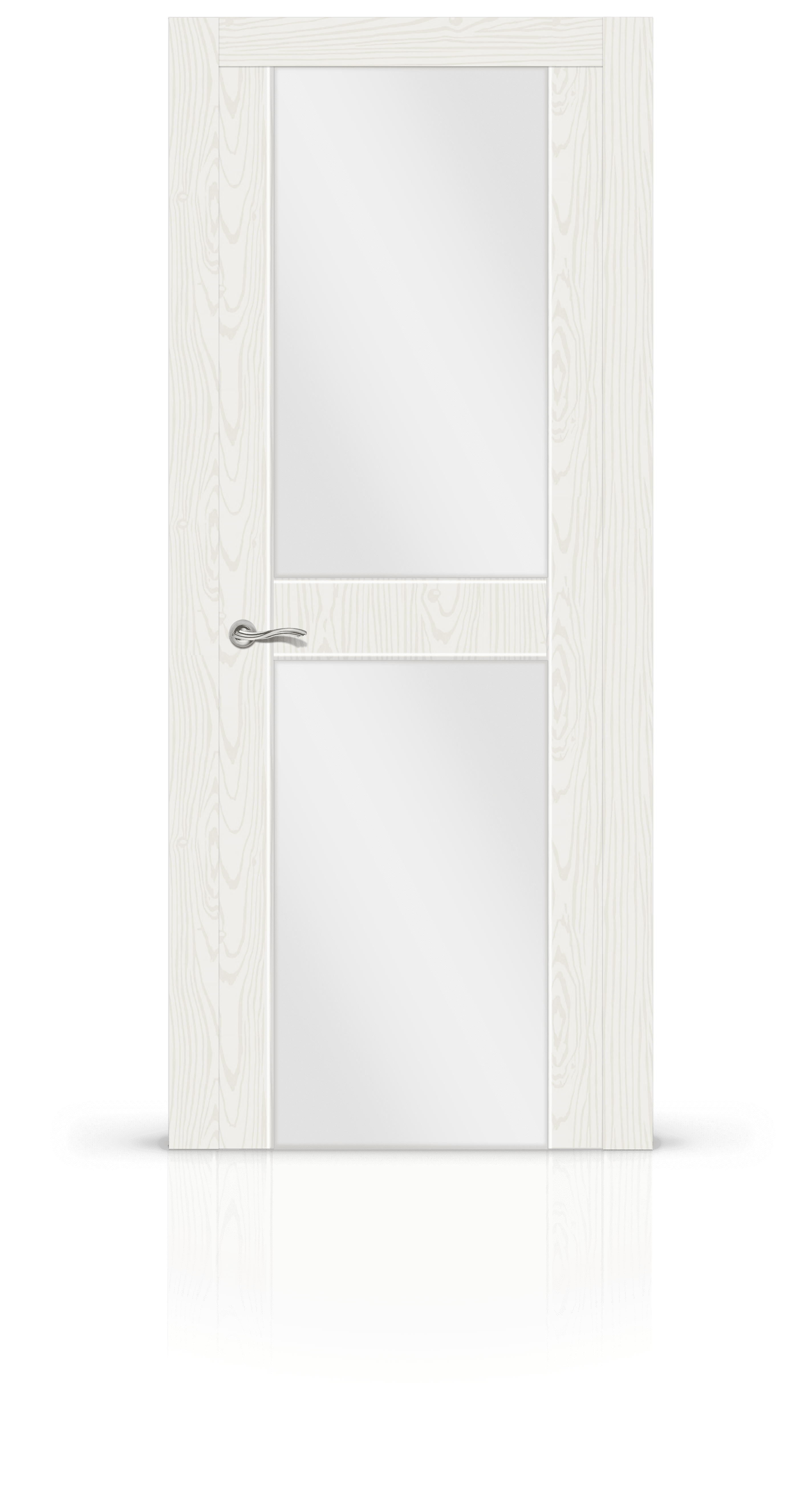 Турин 3 белый ясень стекло молочное