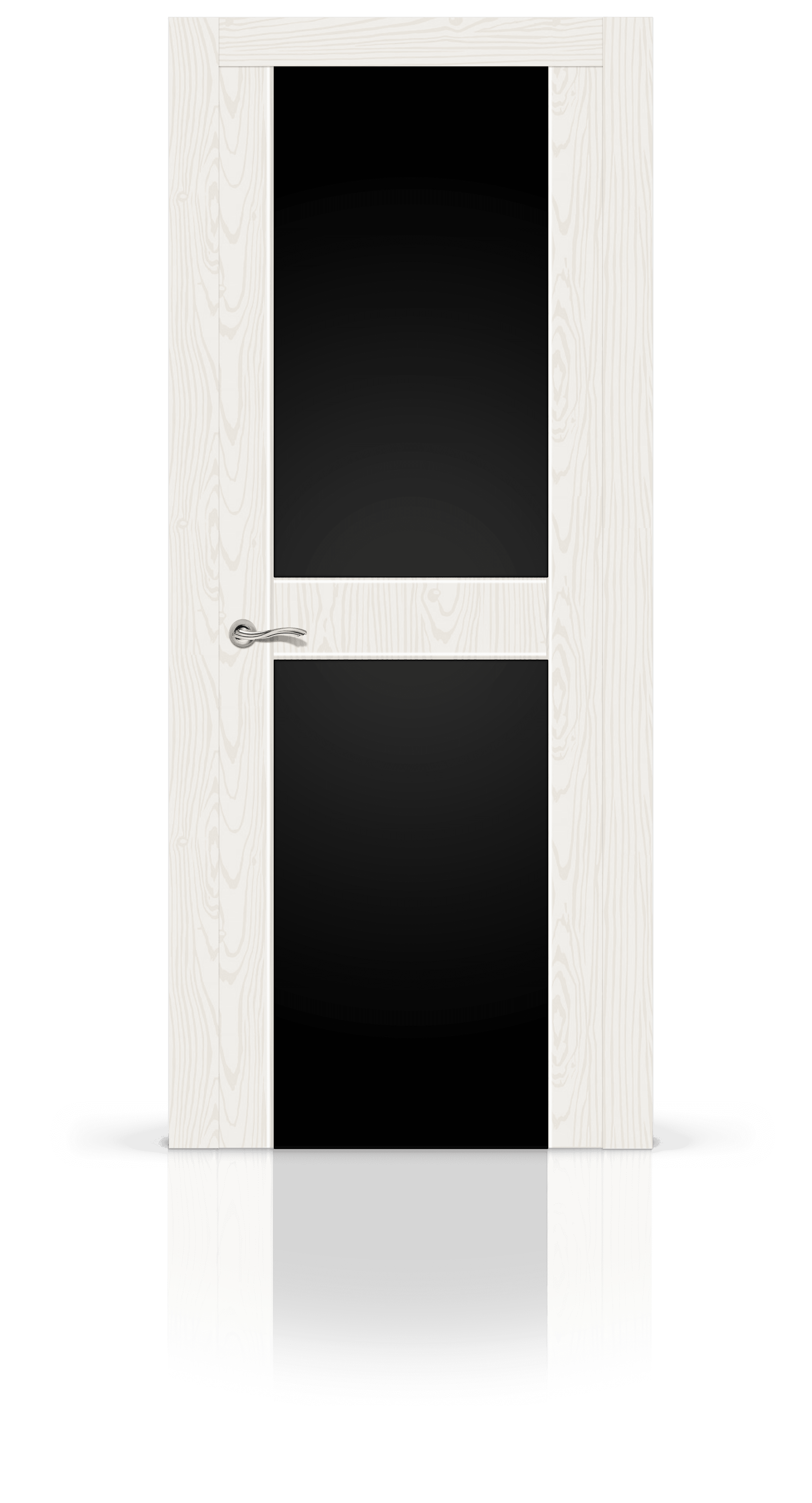 Турин 3 белый ясень стекло черное